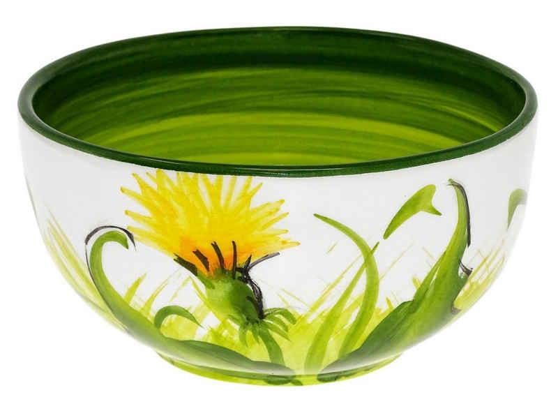 Lashuma Salatschüssel »Pusteblume«, Keramik, Servierschale rund, handgemachte Dekoschüssel