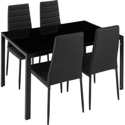 tectake Sitzgruppe »Essgruppe Berlin 4+1«, (5-tlg), 4