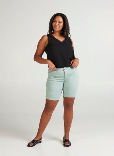 Zizzi Shorts Große Größen Damen Slim Fit Shorts mit normaler Taille und Stretch
