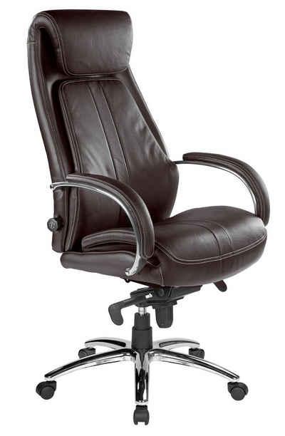Kijng Chefsessel »Throne Braun Leder - Ergonomischer Bürostuhl Schre« (Kein Set)