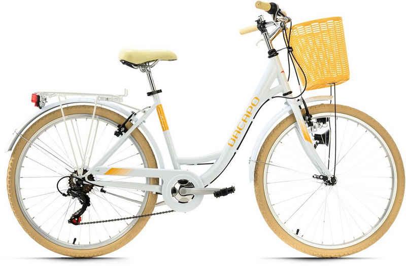 KS Cycling Cityrad »Cantaloupe«, 6 Gang Shimano Tourney Schaltwerk, Kettenschaltung
