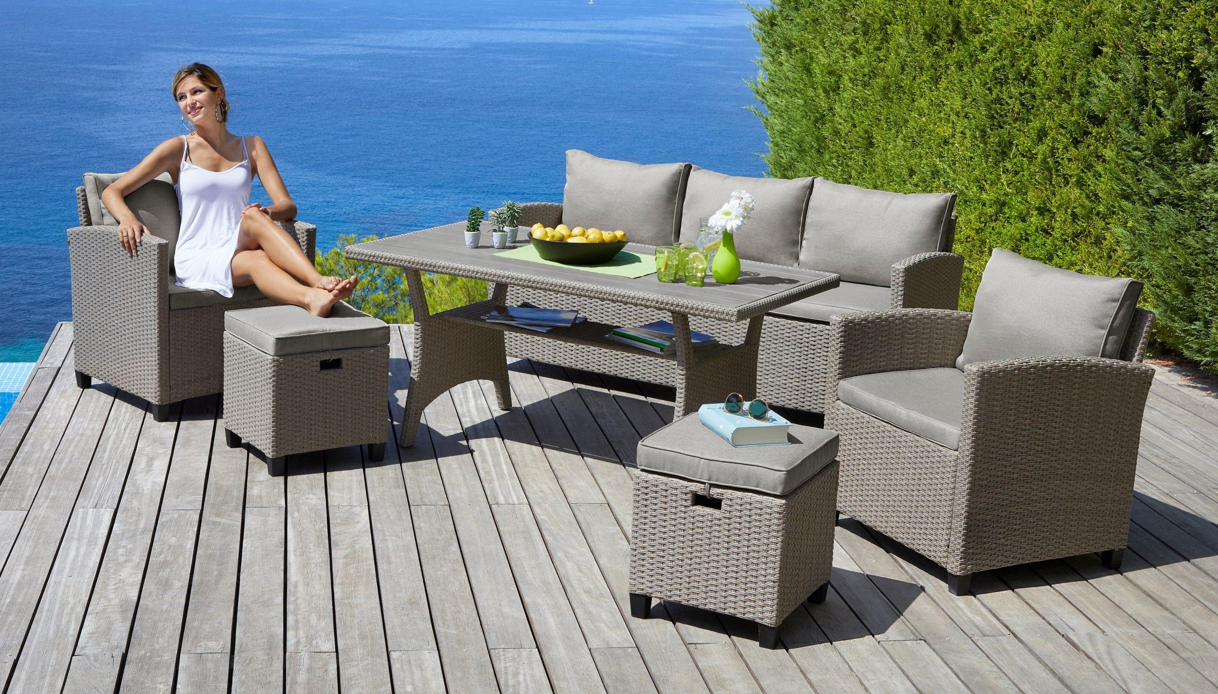 Polyrattan Lounge-Set