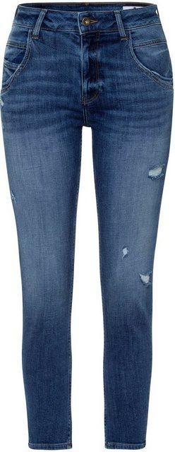 Hosen - Cross Jeans® High waist Jeans »Tanya« Gerade geschnittenes Bein das zum Saum schmaler wird › blau  - Onlineshop OTTO