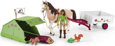 Schleich® Spielfigur »Horse Club, Sarahs Campingausflug (42533)«