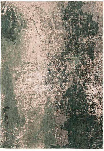Teppich »CRACKS«, louis de poortere, rechteckig, Höhe 3 mm, Flachgewebe, modernes Design, 85% Baumwolle, Wohnzimmer