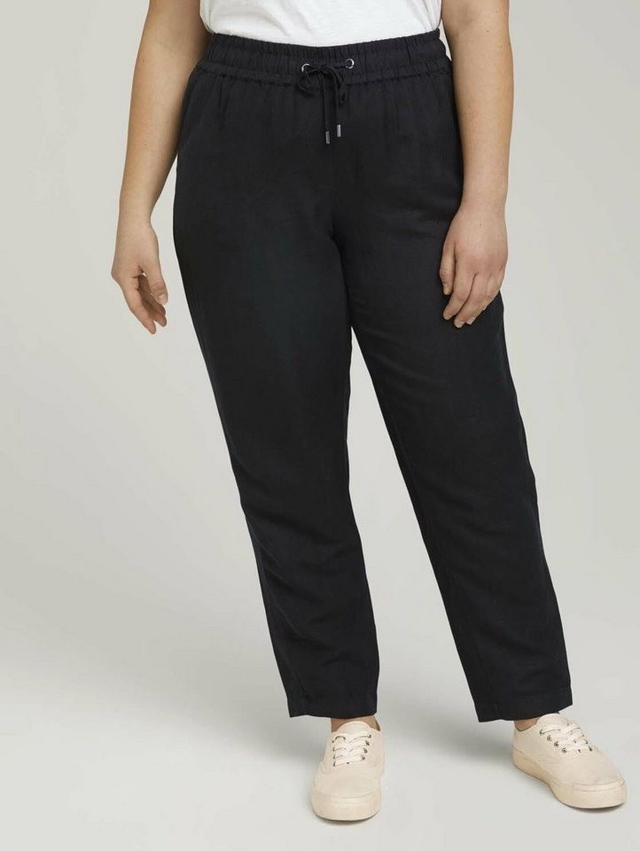 tom tailor my true me -  Chinohose »Loose Fit Hose mit Leinen«