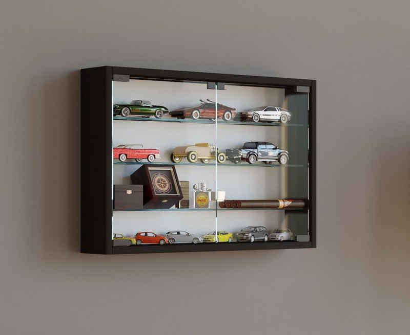 VCM Hängevitrine »Sammel Holz Glas Wandvitrine Mandosa M mit Drehtüren«