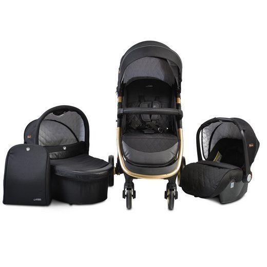 Cangaroo Kombi-Kinderwagen »Kombikinderwagen Noble 3 in 1«, Babyschale, Babywanne, Sportsitz klappbar