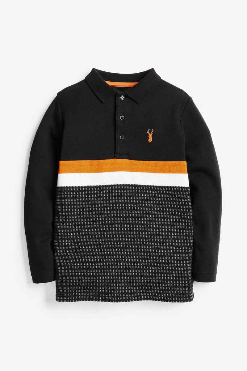 Next Poloshirt »Langärmliges Poloshirt in Blockfarben« (1-tlg)