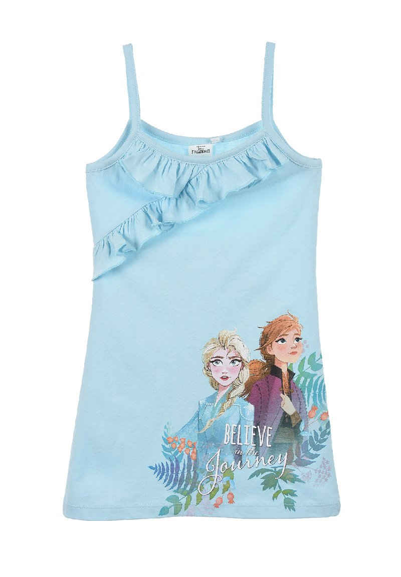 Disney Frozen Trägerkleid »Anna und Elsa Mädchen Sommer-Kleid Dress« mit Spaghettiträger