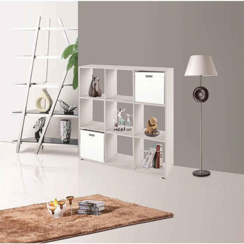 Mucola Raumteiler »Raumtrenner Weiß 9 Fächer Bücherschrank Regalwand Kinderregal Holzregal Regal«