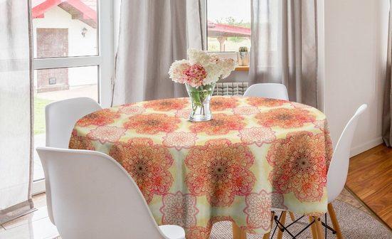 Abakuhaus Tischdecke »Kreis Tischdecke Abdeckung für Esszimmer Küche Dekoration«, Red Mandala Blüten-Blumen