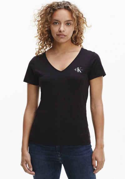 Calvin Klein Jeans V-Shirt »MONOGRAM SLIM V-NECK TEE« mit CK Monogramm Logo & Calvin Klein Jeans Schriftzug