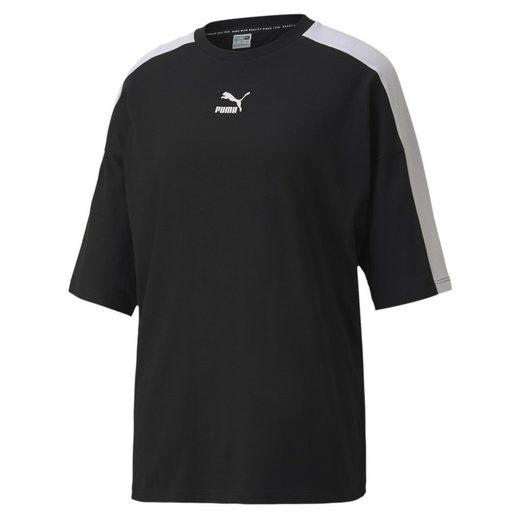 PUMA T-Shirt »Classics T7 Loose Fit Damen Kurzarm-Shirt«