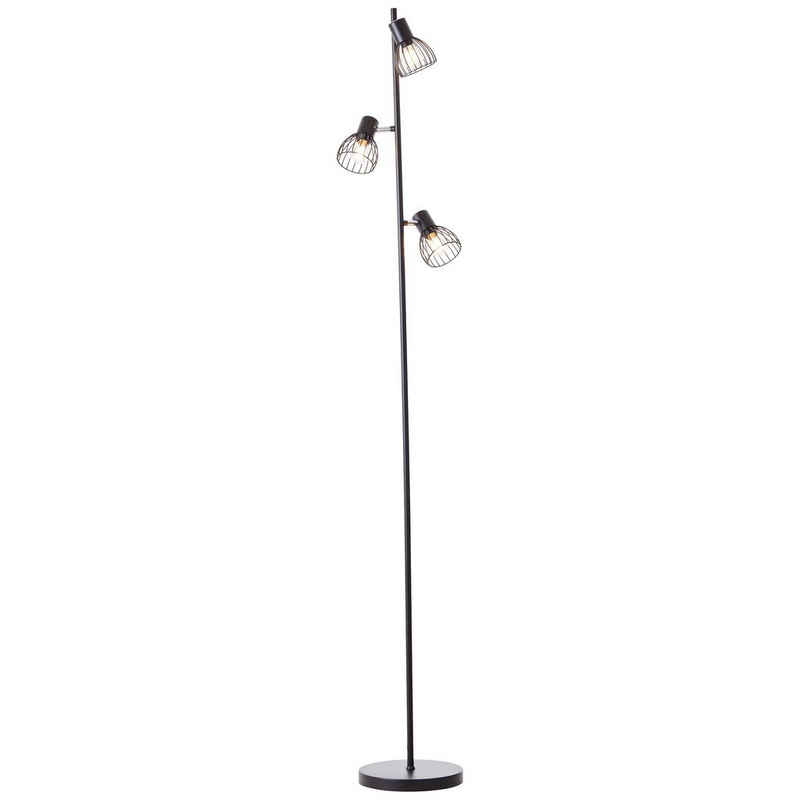 Brilliant Leuchten Stehlampe »Blacky«, 3flg schwarz matt