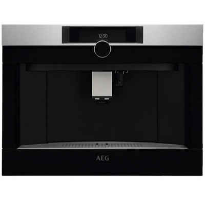 AEG Einbau-Kaffeevollautomat KKK994500M, Premium-Drehwähler mit Berührungssensor Antifinger Edelstahl-Beschichtung 2 Heizsysteme für eine optimale Brühtemperatur und Dampfausgabe