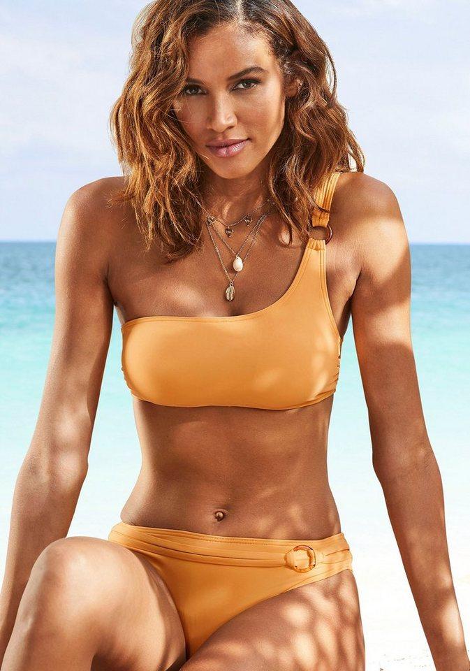 Bademode - s.Oliver Beachwear Bikini Hose »Rome«, mit Ziergürtel › gelb  - Onlineshop OTTO