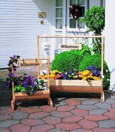 Promadino Blumenkasten Willkommen groß