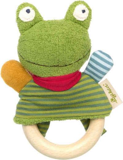 Sigikid Greifling »Green Collection, Greifring Frosch«, mit Rassel; Made in Europe