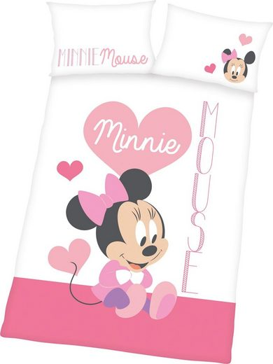 Babybettwäsche »Minnie Mouse«, Walt Disney, mit tollem Wendemotiv