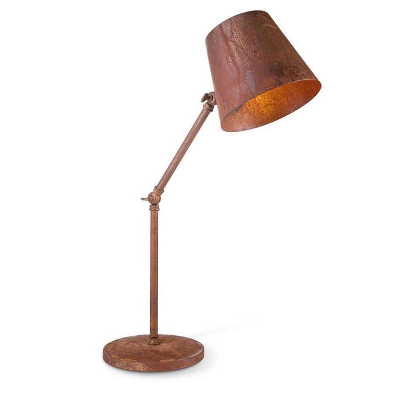 home sweet home Tischleuchte »Tischlampe RUSTY - beweglich max 58cm hoch - E27 - industrielles Rost-Design«