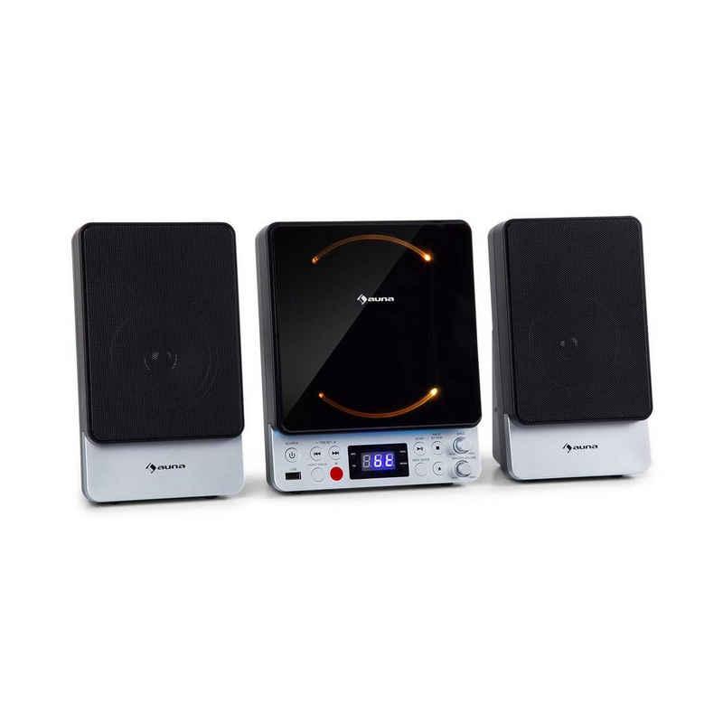 Auna »Microstar Sing Microsystem Karaoke-Anlage CD-Player Bluetooth USB-Port Fernbedienung« Stereoanlage (UKW-Tuner, Wandmontage, front-loading CD-Player mit automatischem Öffnungsmechanismus)
