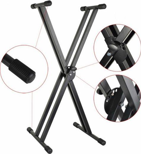 Steinbach Keyboardständer »Steinbach Keyboardständer doppelstrebig schwarz bis 50 kg 67-98 cm«