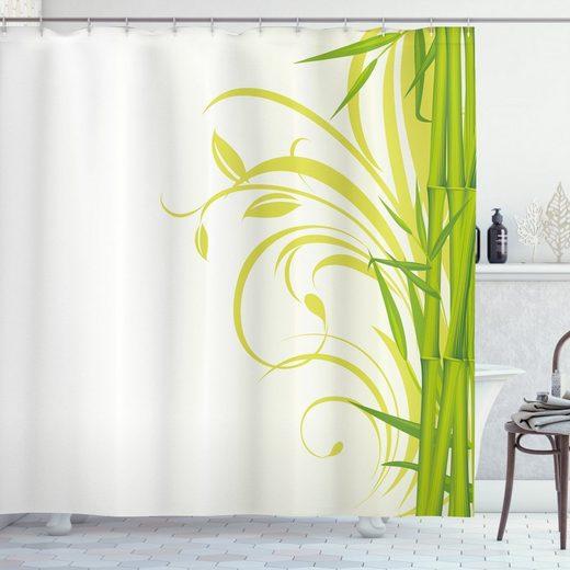Abakuhaus Duschvorhang »Moderner Digitaldruck mit 12 Haken auf Stoff Wasser Resistent« Breite 175 cm, Höhe 180 cm, Grün Feng Shui Garten