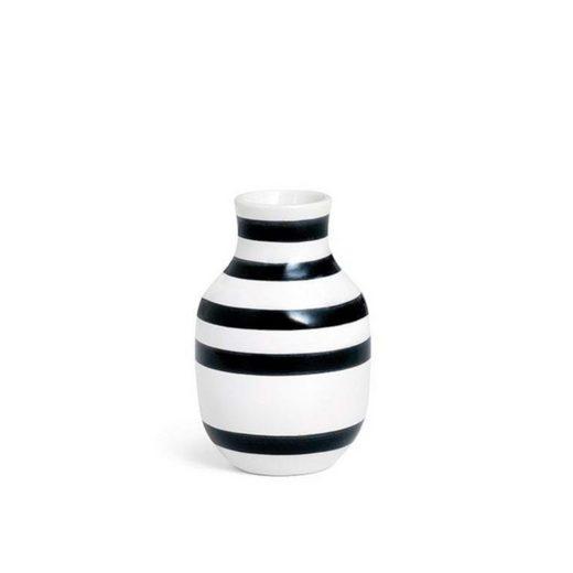 Kähler Tischvase »Vase Omaggio S schwarz-weiß«, Vasenöffnung ca. 4 cm Durchmesser