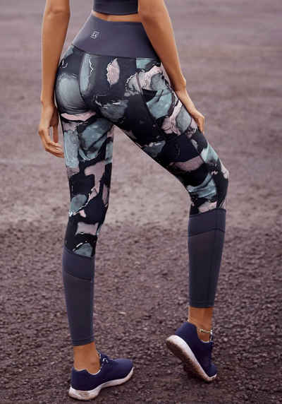 LASCANA ACTIVE Leggings mit elastischem Bund in V-Form