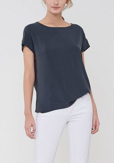 OPUS T-Shirt »Skita« hinten mit etwas längerem, abgerundetem Saum