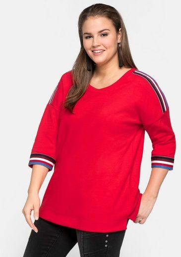 Sheego Sweatshirt in oversized Form