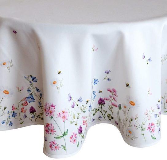 matches21 HOME & HOBBY Tischdecke »Tischdecke Mitteldecke Wiesenblumen Blumen Blüten bunt 170x170 cm« (1-tlg)