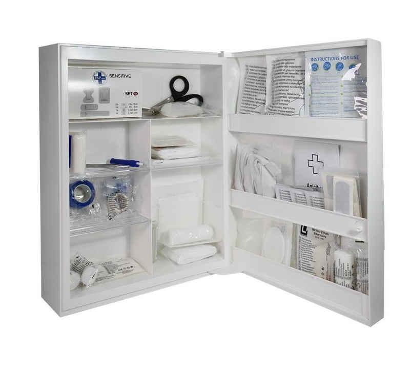 Steelboxx Arzttasche »Verbandschrank Modell K mit Füllung DIN 13 169 -« (1-tlg), mit Erste Hilfe Ausstattung (Füllung) nach DIN 13169 - Sicherheitsschloß mit einem Schlüssel