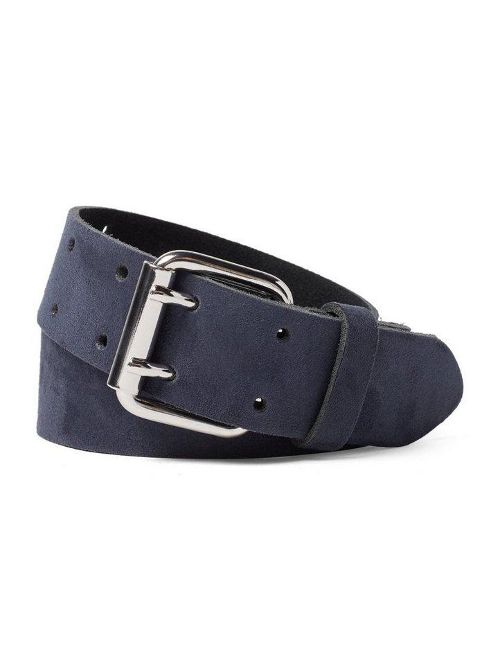 tom tailor denim -  Ledergürtel »Ledergürtel mit Doppelschnalle«