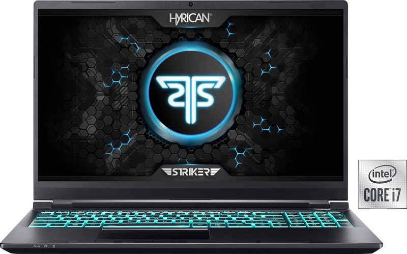 Hyrican Striker 1636 Gaming-Notebook (39,62 cm/15,6 Zoll, Intel Core i7 10750H, GeForce RTX 3070 Max.Q, 1000 GB SSD, 240 Hz Display, 16 GB RAM)