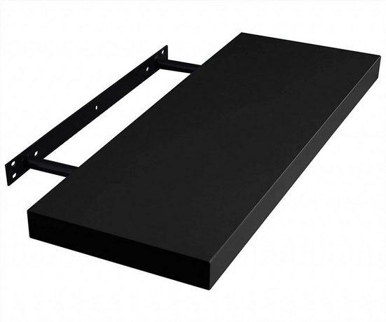EUGAD Wandregal »0081QJ«, Wandregal WandBoard in verschiedenen Farben Größen Schwarz