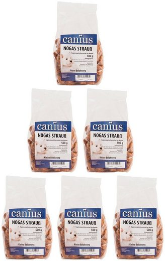 CANIUS Hundesnack »Nogas Strauss«, 6 x 500 g
