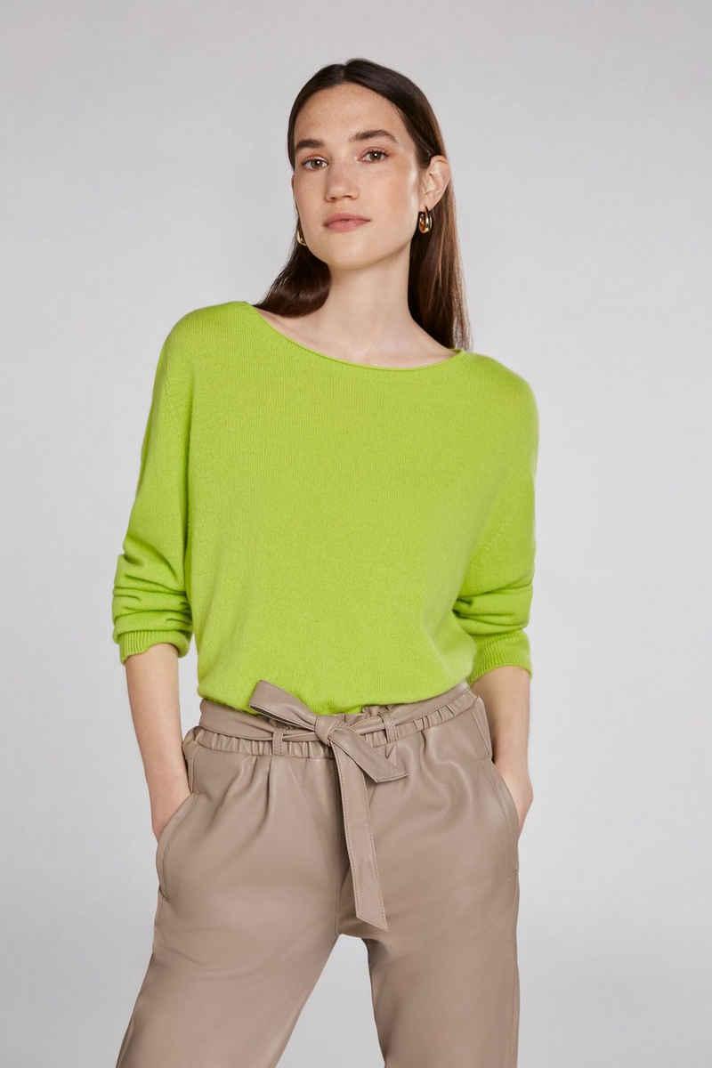 Oui Rundhalspullover »Pullover aus Cashmere-Wolle«