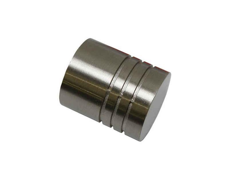 Gardinenstangen-Endstück »Zylinder«, GARDINIA, (2-St), Einzelprogramm Chicago 20 mm