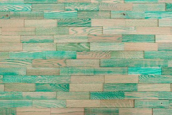 Wodewa 3D Wandpaneel »Berlin - Vintage 011«, BxL: 20x5 cm, 1 qm, (Set, 100-tlg) mit 3D-Effekt, geölt, grün