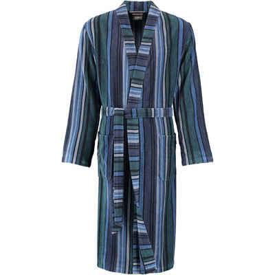 Herrenbademantel »Struktur 2509 Kimono Velours«, Cawö, extraleicht