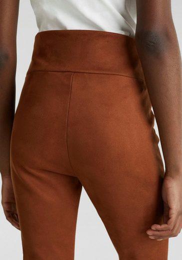 Esprit Lederimitathose mit High Waist und angesetztem Taillenbund