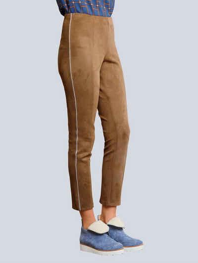 Alba Moda Leggings mit seitlich eingesetzter Zierpaspel
