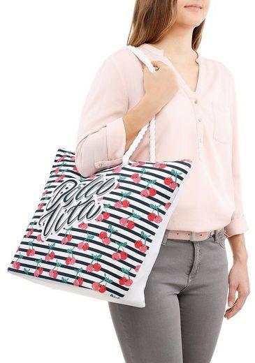 fabrizio® Strandtasche  mit geräumigen Hauptf  ideal für den Strand