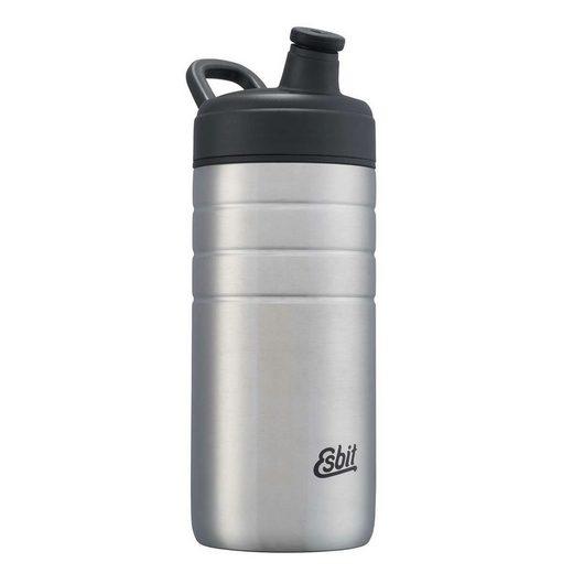 Esbit Trinkflasche, MAJORIS Sportflasche 600ml, für die Schule, Sport, Fahrrad, Outdoor, Wandern Edelstahltrinkflasche Edelstahlflasche