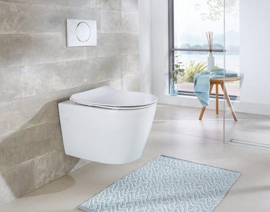 Flachspül-WC »Vigo«, Toilette spülrandlos, inkl. WC-Sitz mit Softclose