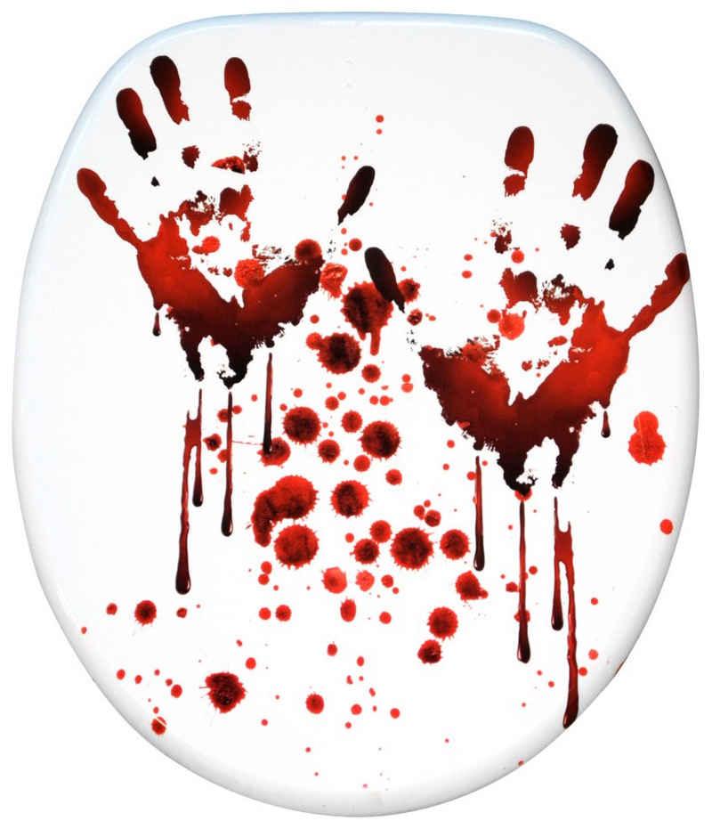 Sanilo WC-Sitz »Blood Hands«, mit Absenkautomatik