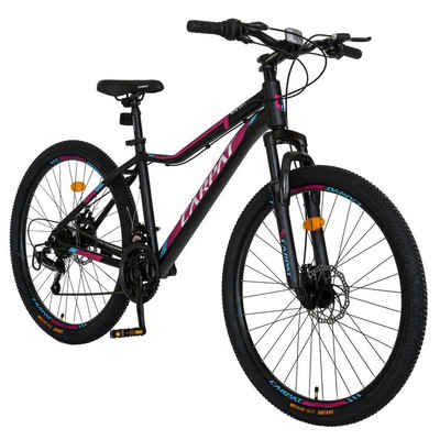 CARPAT Mountainbike »Fahrrad Herren Damen 26 Zoll Mountainbike MTB, Shimano Tourney TY-300, Aluminium Rahmen, mechanischen Scheibenbremse«, 21 Gang Shimano, Kettenschaltung