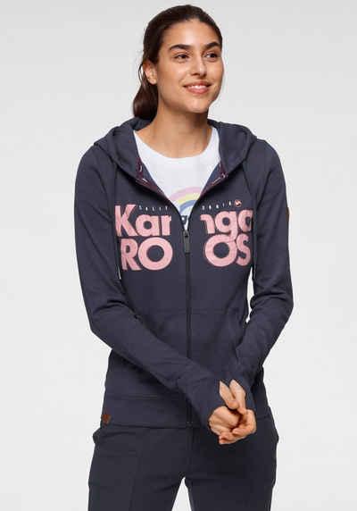 KangaROOS Kapuzensweatjacke mit großem Logo-Front-Print - NEUE KOLLEKTION